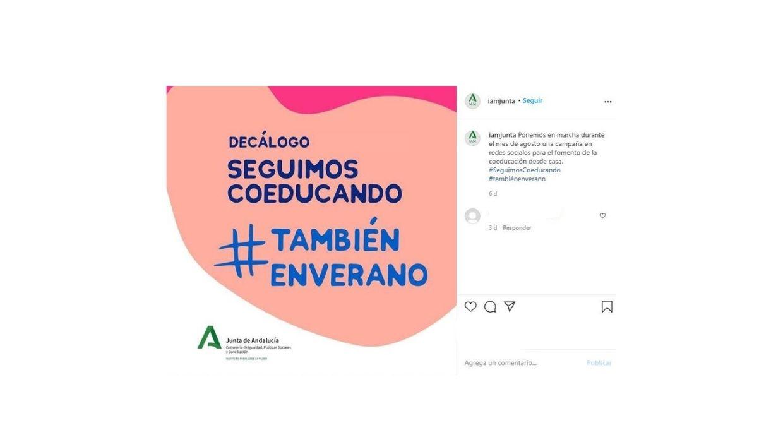 #SeguimosCoeducando #TambiénenVerano Campaña del Instituto Andaluz de la Mujer